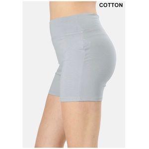 NEW Gray biker cotton shorts